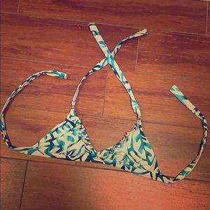 Becca Blue & White Bikini Top SMALL